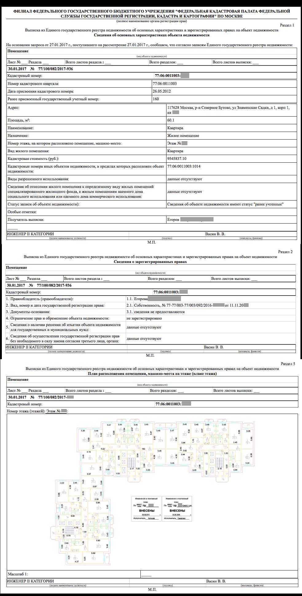 Выписки ЕГРН Росреестр - Онлайн заказ выписок